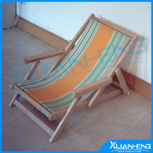 Folding Wooden Beach Chair Canvas pictures & photos