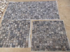Hot Sell Dark Emperador Mosaic Tiles Tumbled pictures & photos