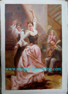 Oil Paining, Dancing Oil Painting, Handmade Oil Painting