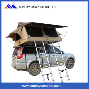 Camping Waterproof Double Ladder Family Safari Car Roof Top Tent pictures & photos
