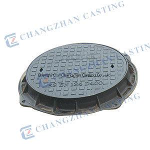 BS En124 D400 Medium Duty Ductile Iron Double Seal Manhole Cover