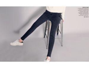 2017 New Lady′ S Cotton Stretch Denim Jeans pictures & photos