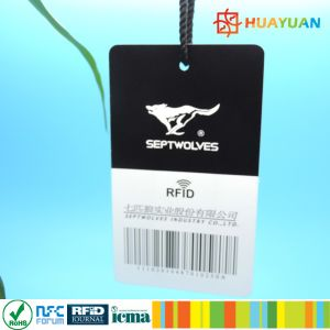 Customized Printing 1or 2 dimensional barcodes UHF Apparel RFID tags pictures & photos
