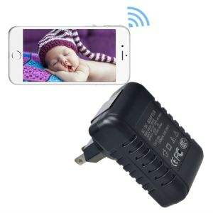 WiFi Wall Charger Adapter 1080P Camera Adaptor Recorder