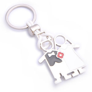Promotion Souvenir Color Love Wedding Keychain with Name Logo (F1199) pictures & photos