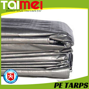 Heavy Duty PE Tarpaulin/ Silver Color/ Us Market/Truck Cover pictures & photos