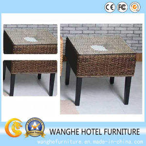 Hotel Small Furniture PE Rattan Wicker Table in Outdoor pictures & photos