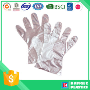 Clear Disposable Polyethylene Gloves for Supermarket pictures & photos