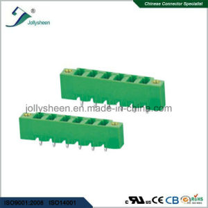 Pluggable Terminal Blocks 6pin 180deg Straight with  Green Housing pictures & photos