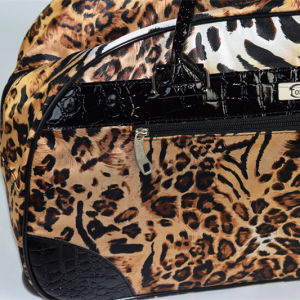 2017 Leopard Printing Trolley Bag with PVC Trim Good Quality pictures & photos