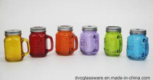 8oz Glass Mason Jar with Beautiful Colors and Tinplate Lid
