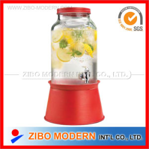 New Design Glass Dispenser with Color Metal Stand pictures & photos