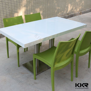 Artificial Stone Solid Surface White Coffee Table (V70716) pictures & photos