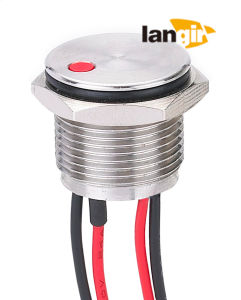 16mm DOT Illuminated Stainless Steel 316L Piezo Switch, IP68 Waterproof Metal Piezo Switch (PZS16-D) pictures & photos