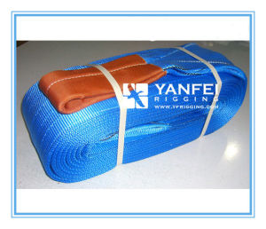 8t Polyester Lifting Webbing Sling with Double Eye pictures & photos