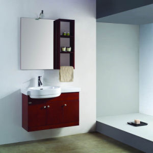 Red Cherry Sanitary Ware Wall Batrhoom Cabinet with Basin and Mirror pictures & photos