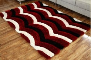 Chinese Silk Polyester Shaggy 3D Carpet for Floor