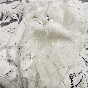 Leaves Shaped Fashion White Cotton African Fabric Lace (NF1011) pictures & photos