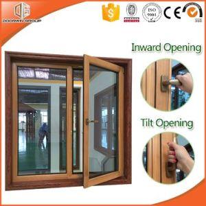 Aluminum Clad Solid Pine Wood Tilt & Turn Window Inward Openning Window, Better Heat-Insulation Double Glazing Glass pictures & photos