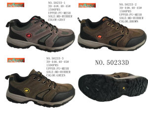 No. 50233 Three Colors Men Hiking Shoes PU Upper pictures & photos