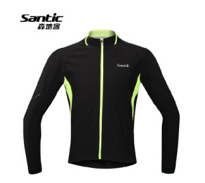 Santic New Winter Fitness Windproof Reflective Thermal Casual Cycling Jersey