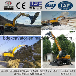 2017 New Wheel Excavators with Timber Grab for Wood/Sugarcane/Stone/Straw pictures & photos