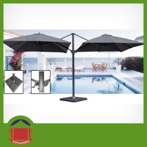 Best Selling Two Head Overhanging Aluminium Garden Parasol pictures & photos