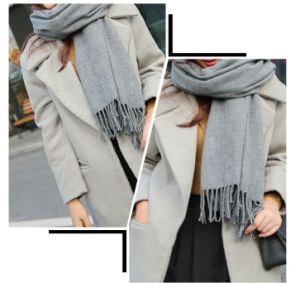 Luxury Cashmere & Wool Large Winter Shawl Scarf pictures & photos