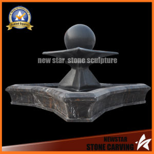 Stone Carving Black Ball Fountain for Garden Decoration pictures & photos