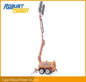Four Folded Hydraulic Mast Diesel DC LED Mobile Light Tower pictures & photos