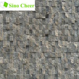 Split Face Stone Black Marble Mosaic Floor Tile Designs pictures & photos