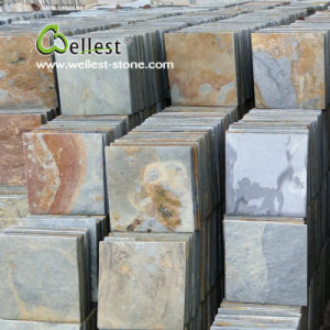 St-015 Rustic Brown Slate Tile for Floor and Wall Cladding pictures & photos