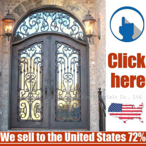 Cheap Price Security Entrance Wrought Iron Door pictures & photos
