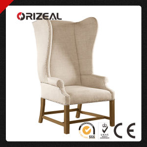French Upholstered High Back Wing Chairs (OZ-WC-005) pictures & photos
