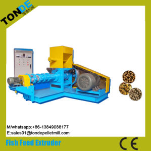 Screw Dry Floating Fish Feed Pellet Making Machine Extruder pictures & photos