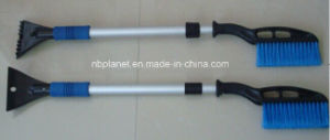 Plastic Telescopic Handle Snow Brush with Ice Scraper pictures & photos