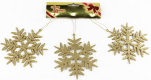 13cm Christmas Decoration Sonw for Gold