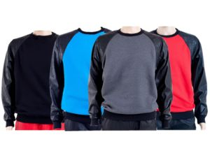 Multicolor Patch Leather Plain Sweatshirts Oversized pictures & photos