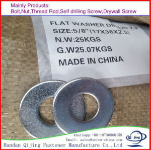 Galvanized Washer DIN125 for Bolts pictures & photos