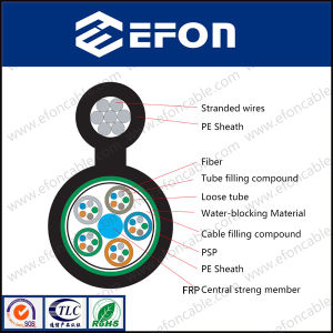 G652D Steel Strand Wire Self Support Aerial Fiber Optical Cable pictures & photos