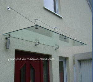 12mm Clear and Frosted Tempered Glass Awning for Entrance pictures & photos