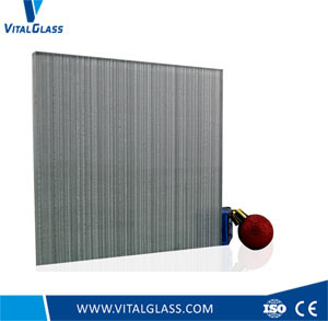 Decorative Glass with Texture, Fabric Laminated Glass pictures & photos