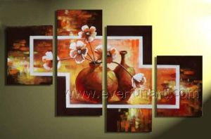 100% Handmade Wall Decor Flower Oil Painting on Canvas (FL4-136) pictures & photos