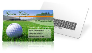 SGS Approved PVC Barcode Membership Card with High Quantity pictures & photos