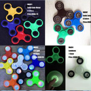LED Light Fidget Spinner Hand Spinner Finger Spinner Toys EDC Tri Digit Air Aluminum Brass Finger Gyro Copper Gold Alloy Spinner pictures & photos