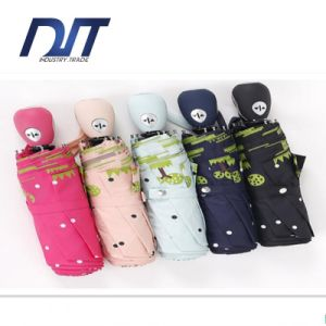 Automatic Umbrella Folding Umbrella Lovely Cartoon Design Custom Printing