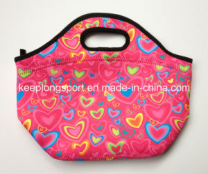 Promotional Insulated Neoprene Lunch Bag with Sublimation Printing pictures & photos