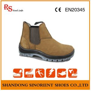 Cow Nubuck Leather TPU Sole No Lace Blundstone Shoes RS009 pictures & photos