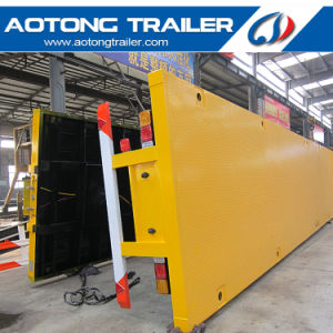 3 Axles 40FT Flatbed Container Cargo Semi Trailer for Sale pictures & photos