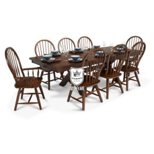 8 Person Beech Wood Luxury American Dining Table and Chair pictures & photos